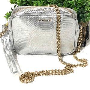 Victoria's Secret Purse Silver w/ gold chain New